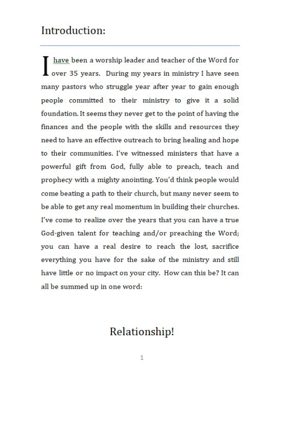 The Power in Relationship page 1