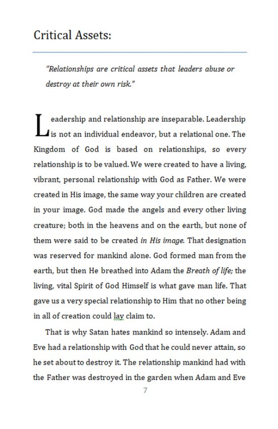 The Power in Relationship page 7